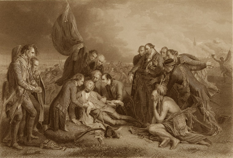"""The Death of General Wolfe"" by Benjamin West, 1770"