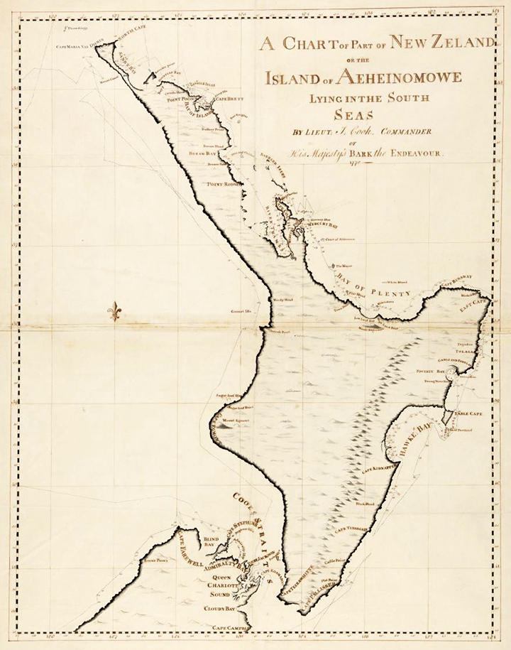 Map Of Australia 1770.Cook And The Pacific At National Library Of Australia James Cook 250