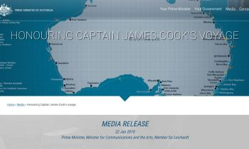 Honouring Captain James Cook's Voyage
