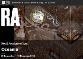 Royal Academy of Arts 'Oceania' Exhibit